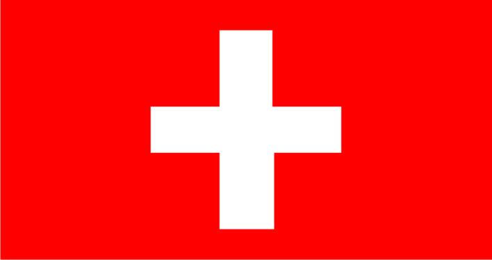 Флаг Швейцарии 0,9х0.9 м. атлас