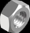 Гайка шестигранная с мелким шагом резьбы стальная класс прочности 6