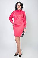 Модное женское платье с гипюровыми рукавами