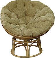 Кресло Папасан  плетеное из ротанга с подушкой