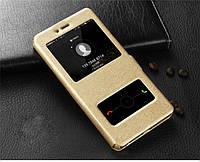 Чехол книжка Momax для Samsung Galaxy J1, J100F, J1 2015 / DS Gold, фото 1
