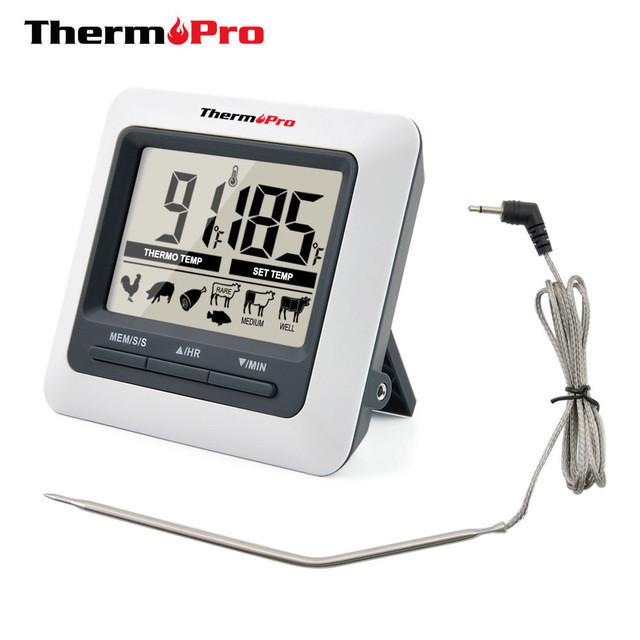 Термометр для мяса Thermopro TP-04 (0C до +250C) с магнитом и таймером