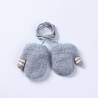Варежки детские для новорожденных на верёвочке, голубые, опт, фото 1