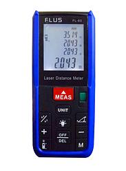 Лазерный дальномер ( лазерная рулетка ) Flus FL-60 (0,039-60 м) проводит измерения V, S, H. Цена с НДС