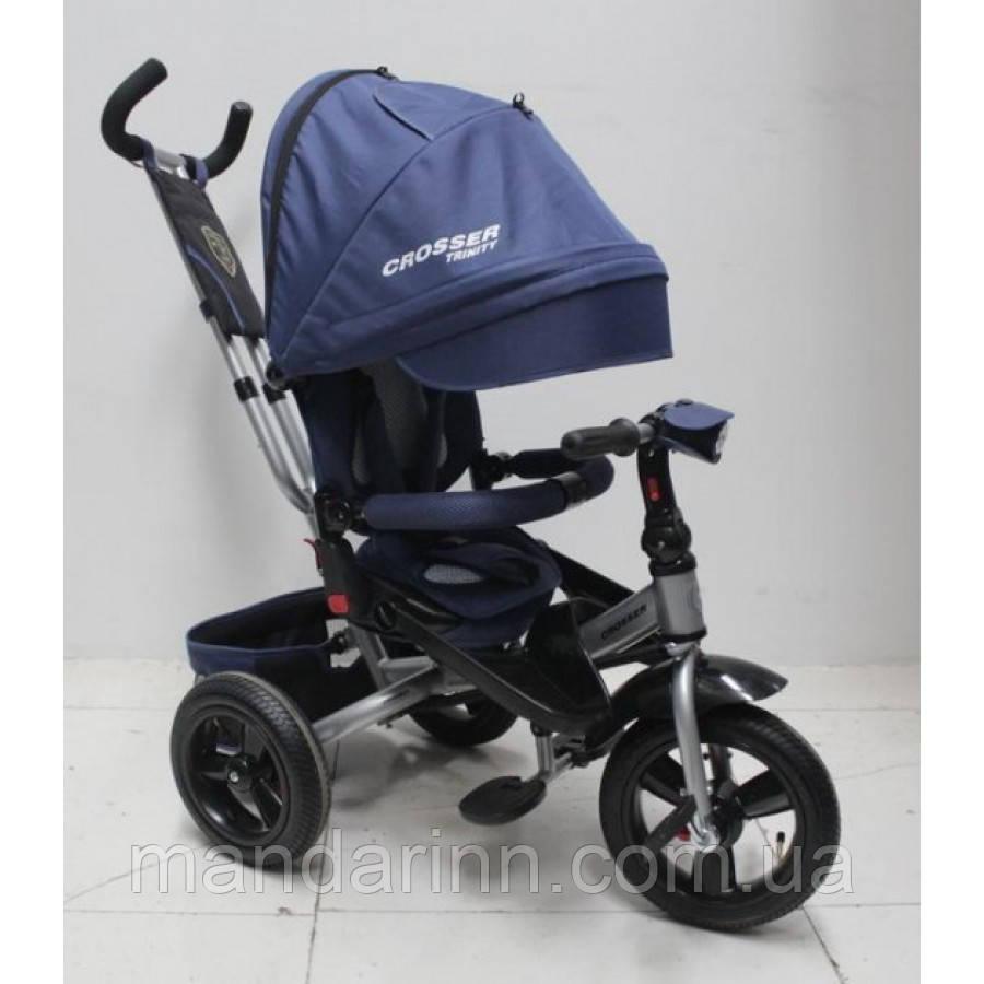 AZIMUT CROSSER T-400 TRINITY AIR дитячий велосипед трехколесны синього кольору