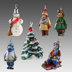 Стеклянные елочные игрушки Irena