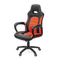 Кресло офисное на колесиках Стрит PL TILT красного цвета из экокожи