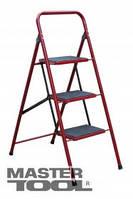 MasterTool  Лестница-стремянка металлическая 4 ступени с ковриком, 1000 мм, Арт.: 79-1034