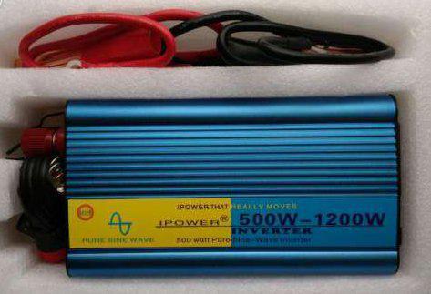 Инвертор IPOWER 12 - 220 В 600 Вт / 1200 Вт чистый синус