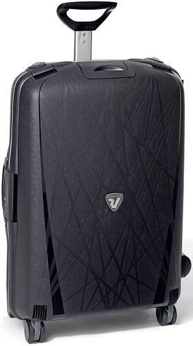 Пластиковый облегченный чемодан 90 л., четырехколесный Roncato Light 500711/01 черный
