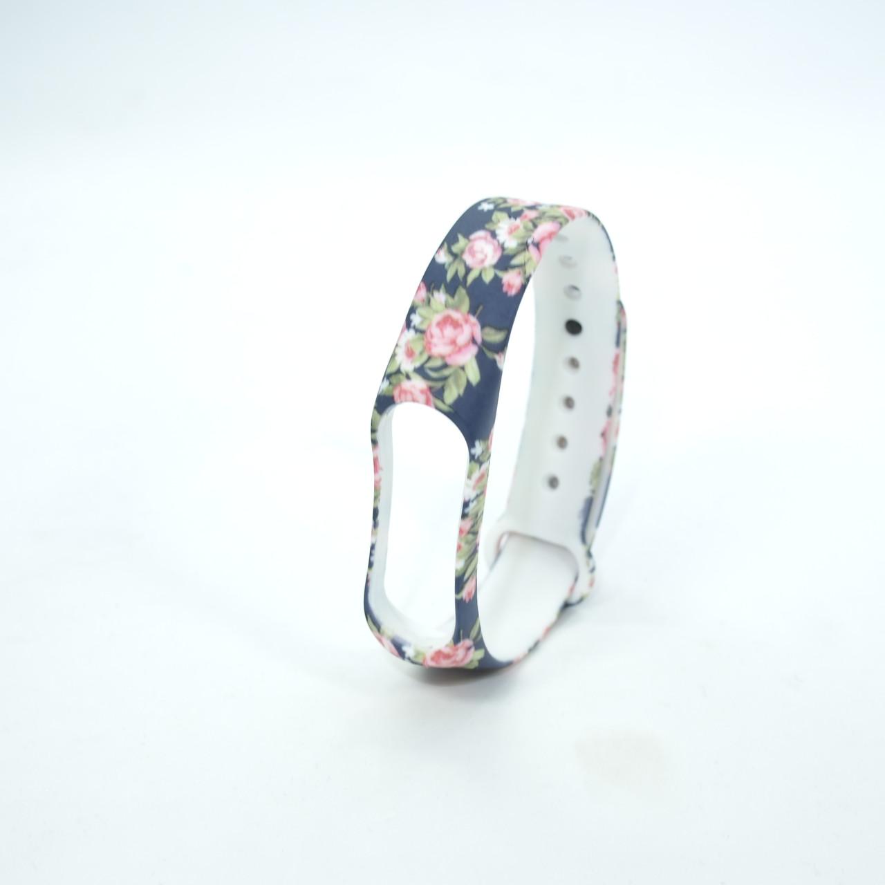 Ремешки для Xiaomi Mi Band 3 Picture flowers 4