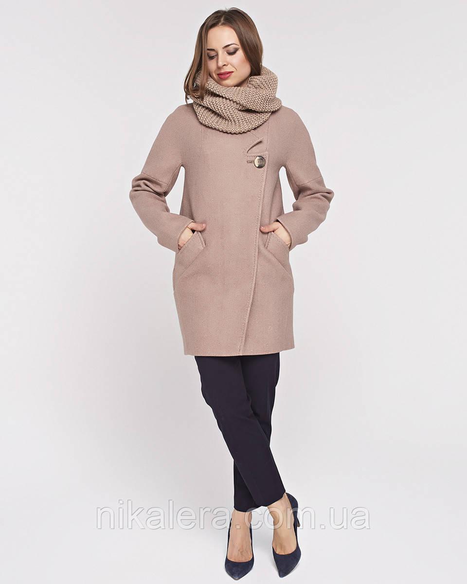 Женское молодежное пальто с хомутом  рр 44-54