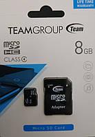 Карта памяти микроSDHC Team 8 гб класс 4 с адаптером