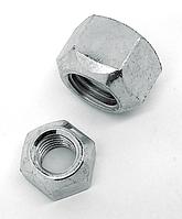 Гайка самостопорящаяся цельнометаллическая с мелким шагом резьбы стальная кл. пр. 8