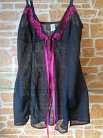Сексуальный коротенький пеньюар Magic babydoll Roza Черный S, фото 1