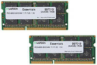 Память Mushkin для ноутбука Apple Macbook DDR3 1066 SODIMM (2x8GB) 16GB PC3-8500 Mac 2009-2010г
