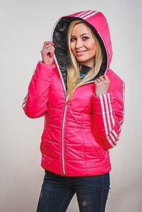 Женская спортивная курточка  розовая