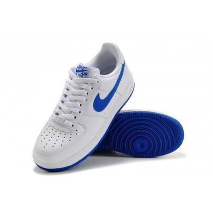 79e04bfc Мужские кроссовки Nike Air Force 1 Low низкие бело-синие: продажа ...