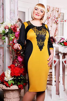 Платье Джулия (черный+горчица), фото 2