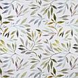 Декоративна тканина з листям рослин блакитного і зеленого кольору для чохлів на диванні подушки, фото 2