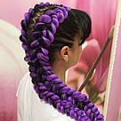 💜 Канекалон однотонный фиолетовый, коса для причёсок 💜, фото 3