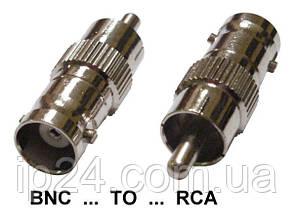 RCA-BNC переходник тюльпан на BNC мама