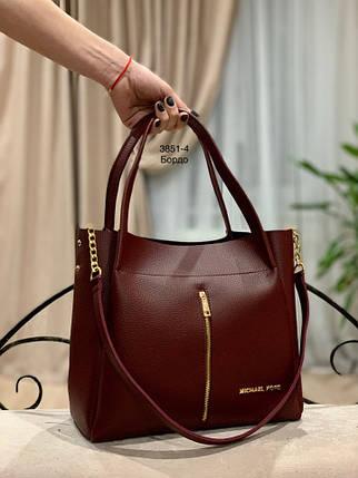 Сильная бордовая сумка с молнией, фото 2