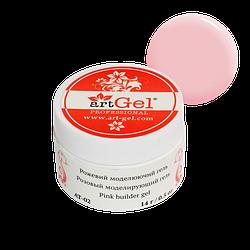 Моделирующий гель для ногтей Прозрачно-розовый Art Gel AT-02, 14 грамм