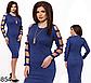 Женское платье трикотаж с люрексом (серый) 826856, фото 2