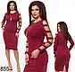 Женское платье трикотаж с люрексом (серый) 826856, фото 3