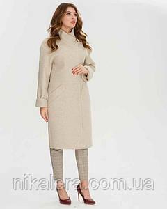 Пальто халатного кроя  рр 42-52
