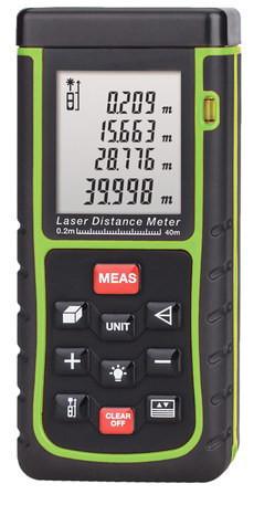 Профессиональный Лазерный Дальномер HAMMER DSL 40 (SR40WE) (0.02 м до 40.0м) С из-м V,S и по Пифагору.