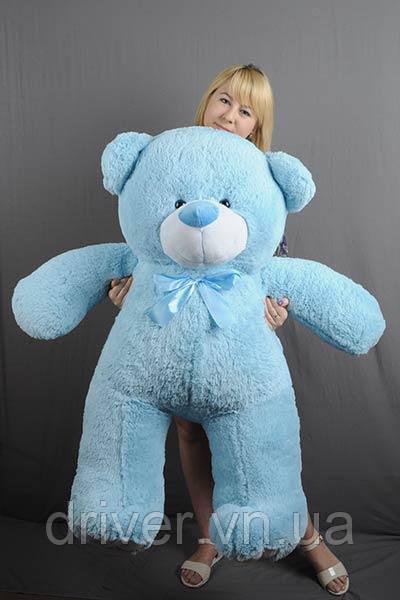 М'яка іграшка ведмедик Веніамін 100 см, блакитний