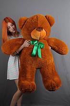 М'яка іграшка ведмедик Веніамін 100 см, коричневий