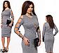 Блестящее платье с открытыми рукавами (бордовый) 826855, фото 2