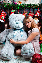 М'яка іграшка ведмедик Веніамін 100 см, сірий