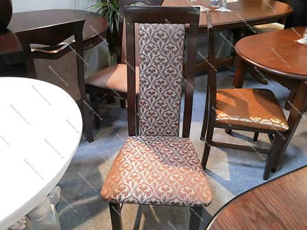 Стул обеденный   деревянный с мягкой спинкой и сиденьем Катрин Микс мебель, цвет темный орех, фото 2