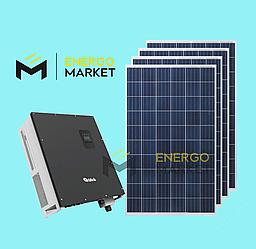 Сетевая солнечная станция 30 кВт (3 фазы, 3MPPT)