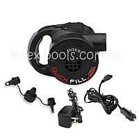 Intex 66622 (220В Вольт + 12 Вольт + АКБ) Насос электрический аккумуляторный