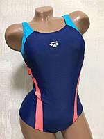 Купальник женский для бассейна. Arena. Синий. 8674, фото 1