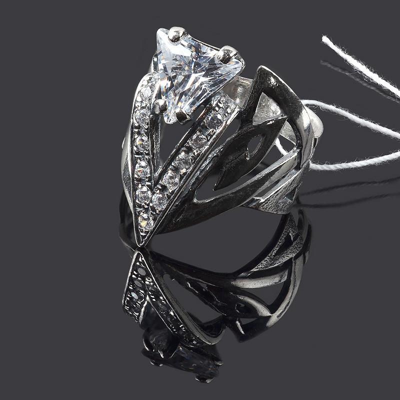 Серебряное широкое кольцо Оракул