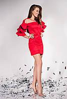 Нарядное платье из замши  JD Белла/1  в 9 ти цветах