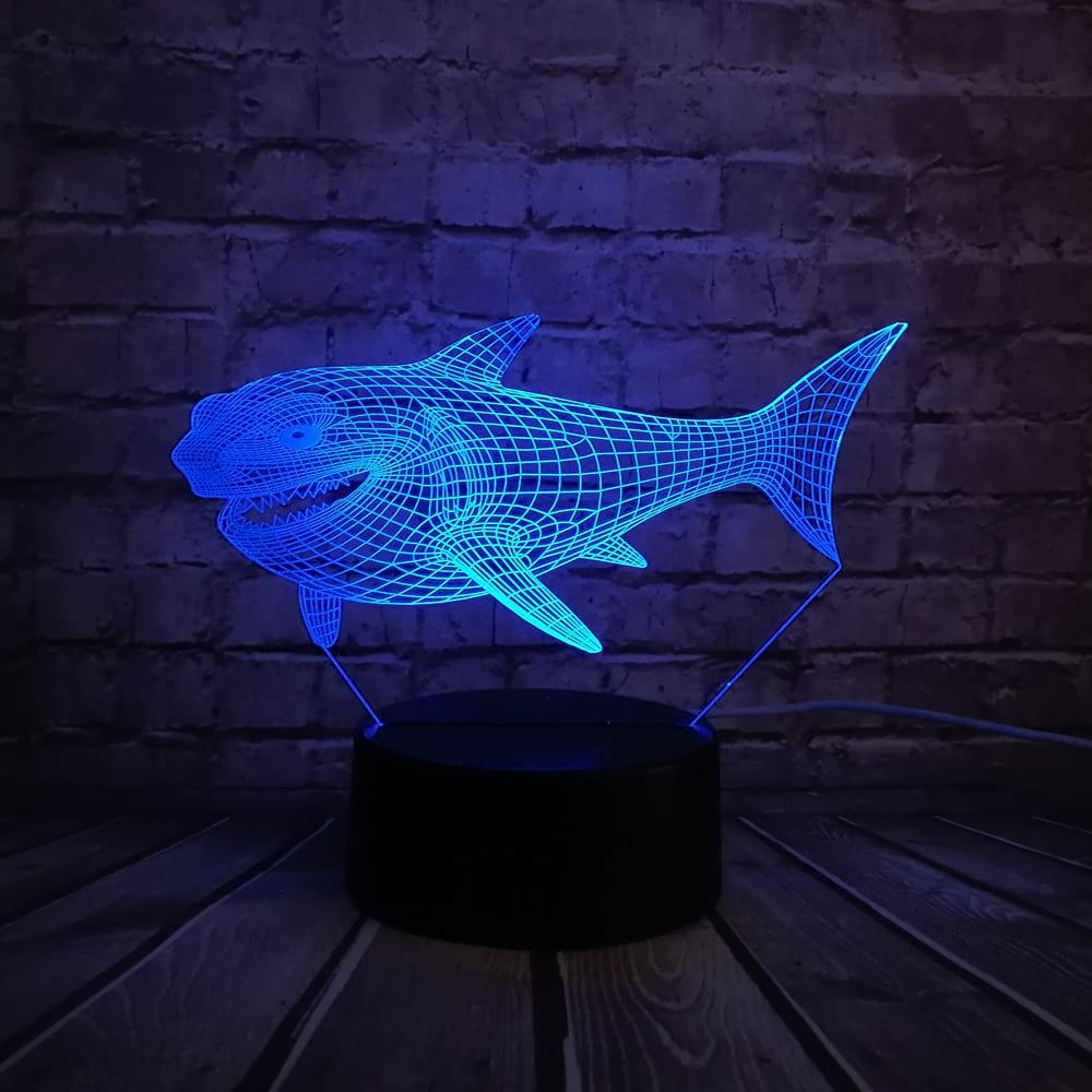 3D светильник 3D Lamp Акула (LP-400)