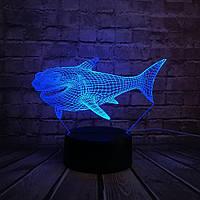 3D светильник 3D Lamp Акула (LP-400), фото 1