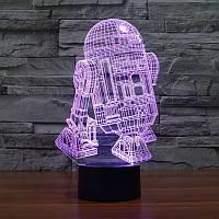 3D светильник 3D Lamp R2D2 (LP-731), фото 1