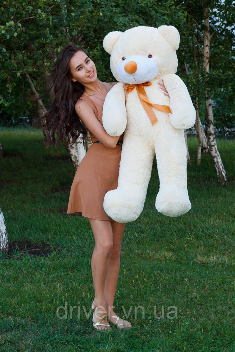 М'яка іграшка ведмедик Рафік 120 см, крем