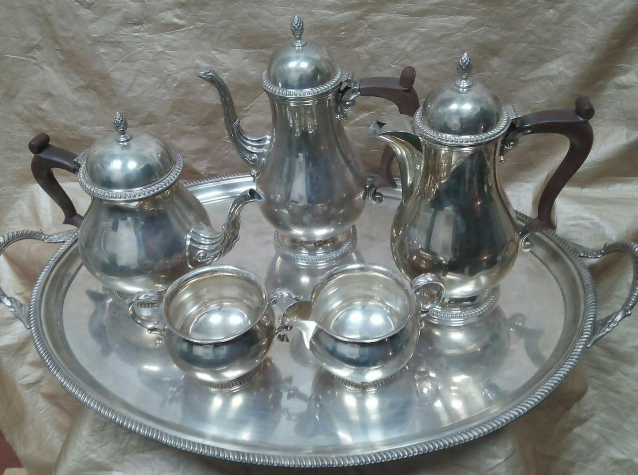 Сервиз серебряный Англия 1-я треть ХХ-век