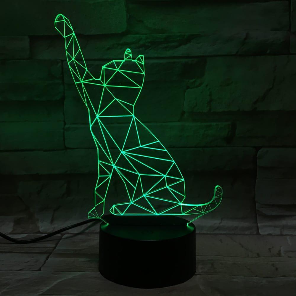 3D светильник 3D Lamp Кот 2 (LP-1230)