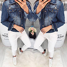 Женский джинсовый пиджак, фото 3