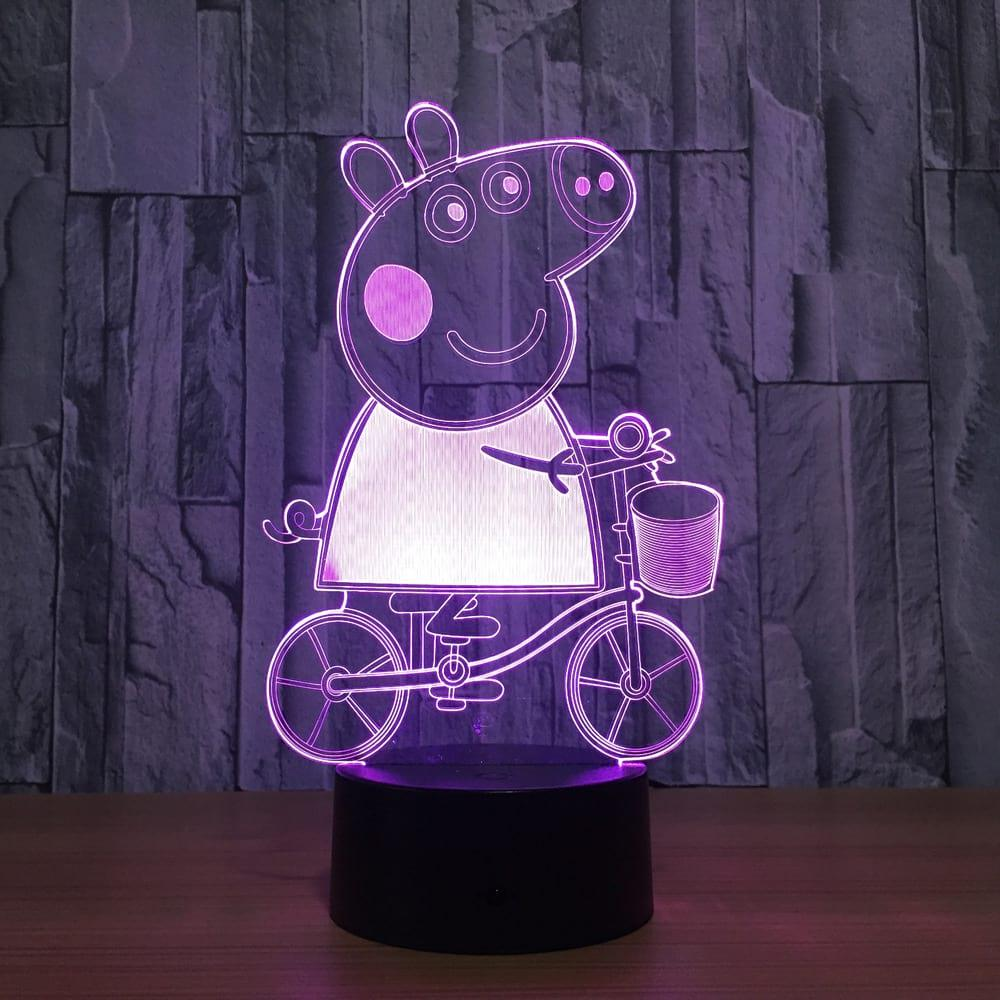 3D светильник 3D Lamp Свинка Пеппа (LP-1270)
